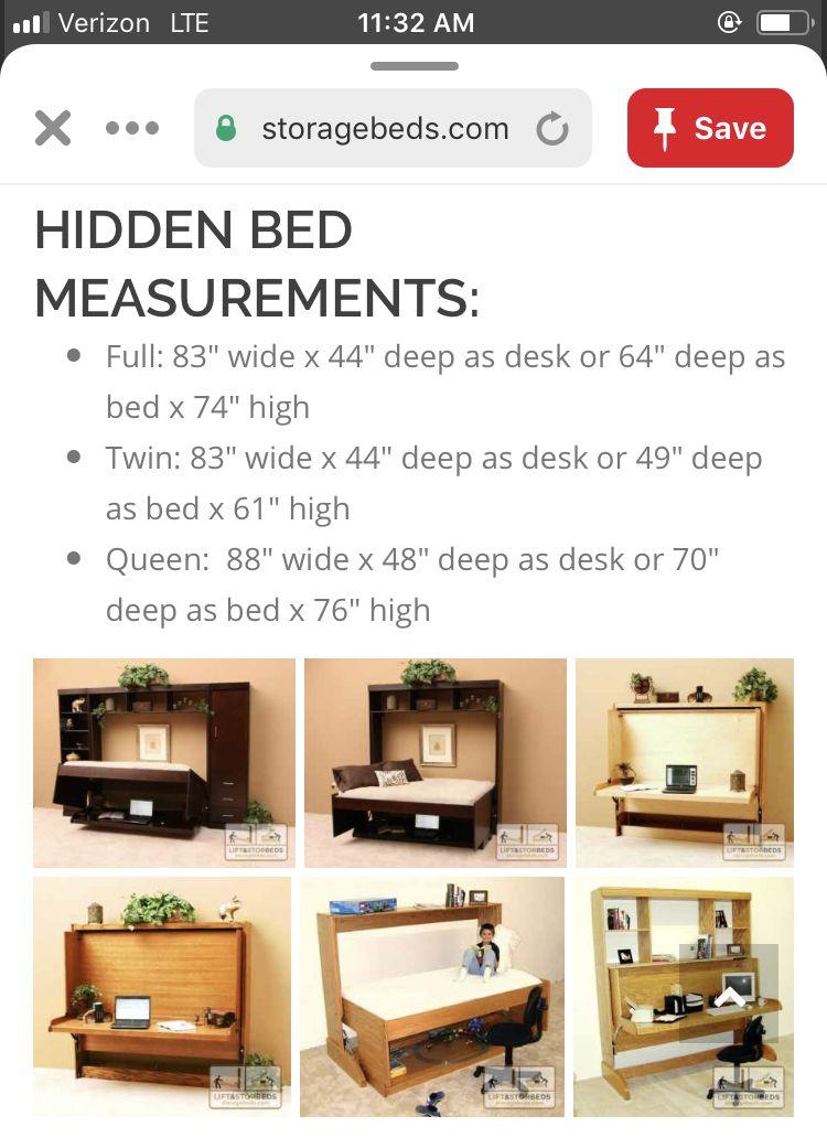 Idea by Matt Smaus on Bedroom/ Office | Hidden bed, Bed ...