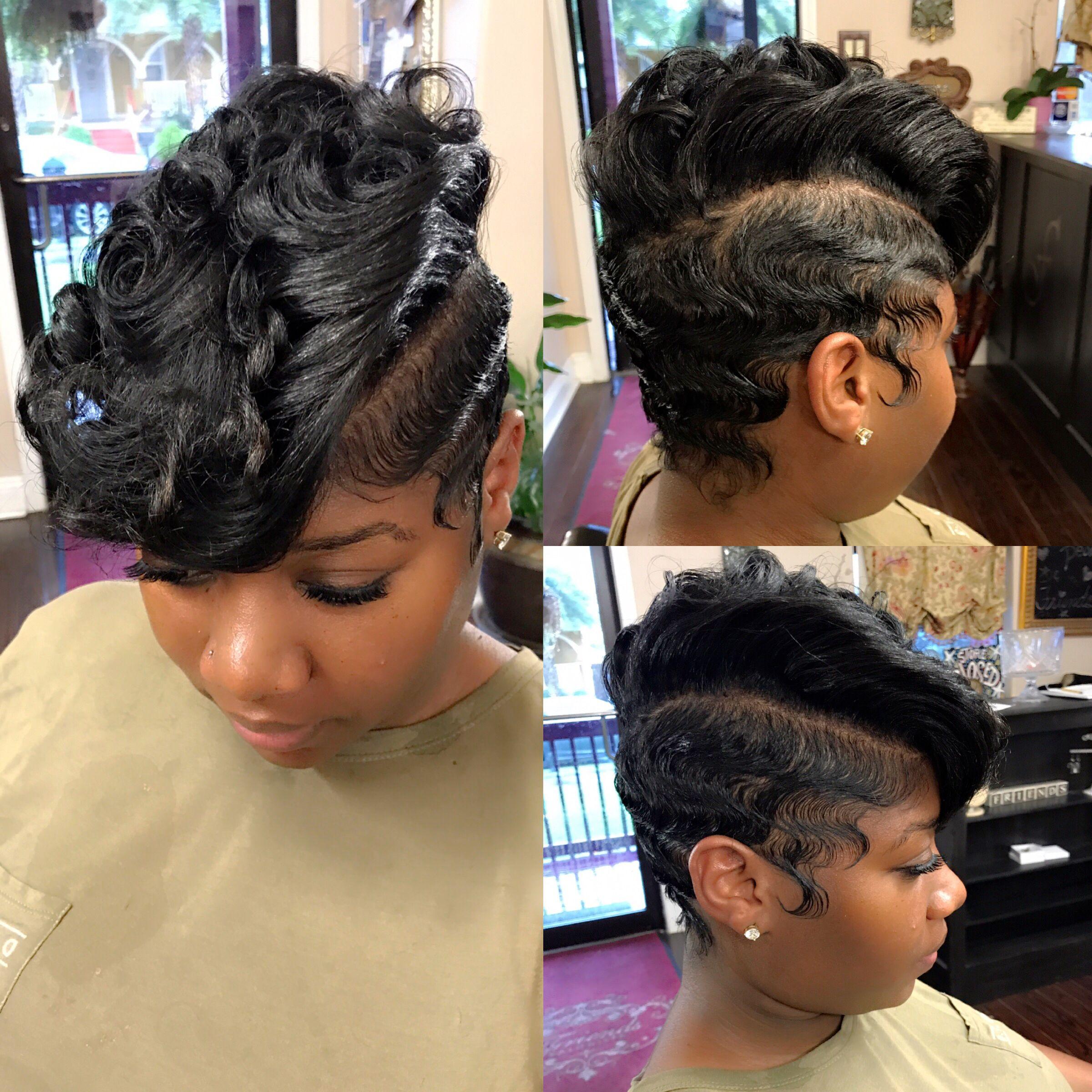 Waves And Curls Hair By Tanya Finger Waves Short Hair Short