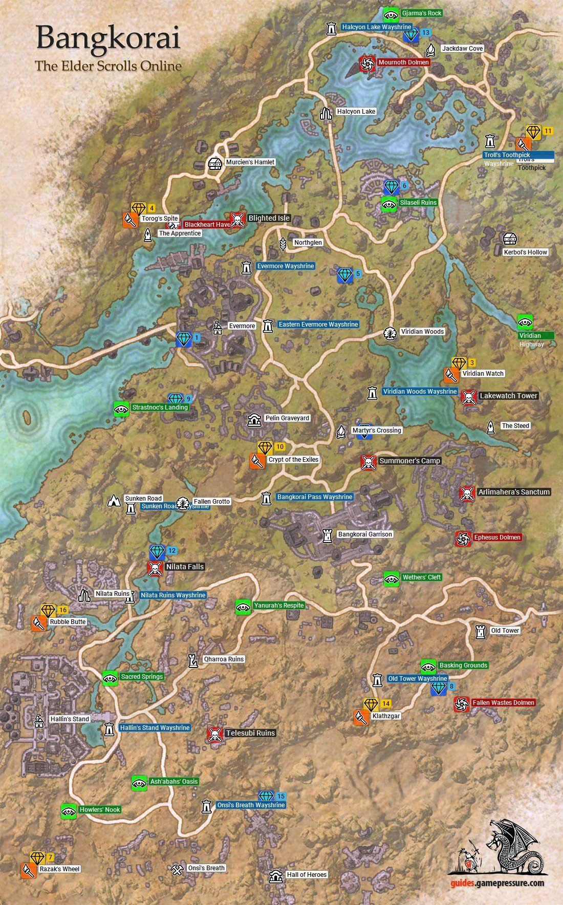 Eso Bangkorai Map : bangkorai, Elder, Scrolls, Online, Bangkorai, Online,, Guide,
