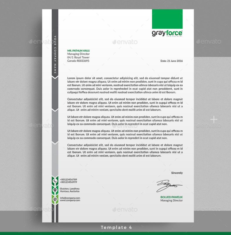 15+ Creative Professional Letterhead Template Word Letterhead - corporate letterhead template