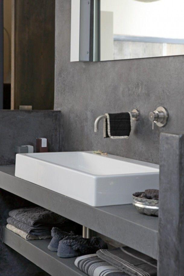 Betere Wasbak op plank | Badkamer, Badkamer badkamer, Wastafel EU-87