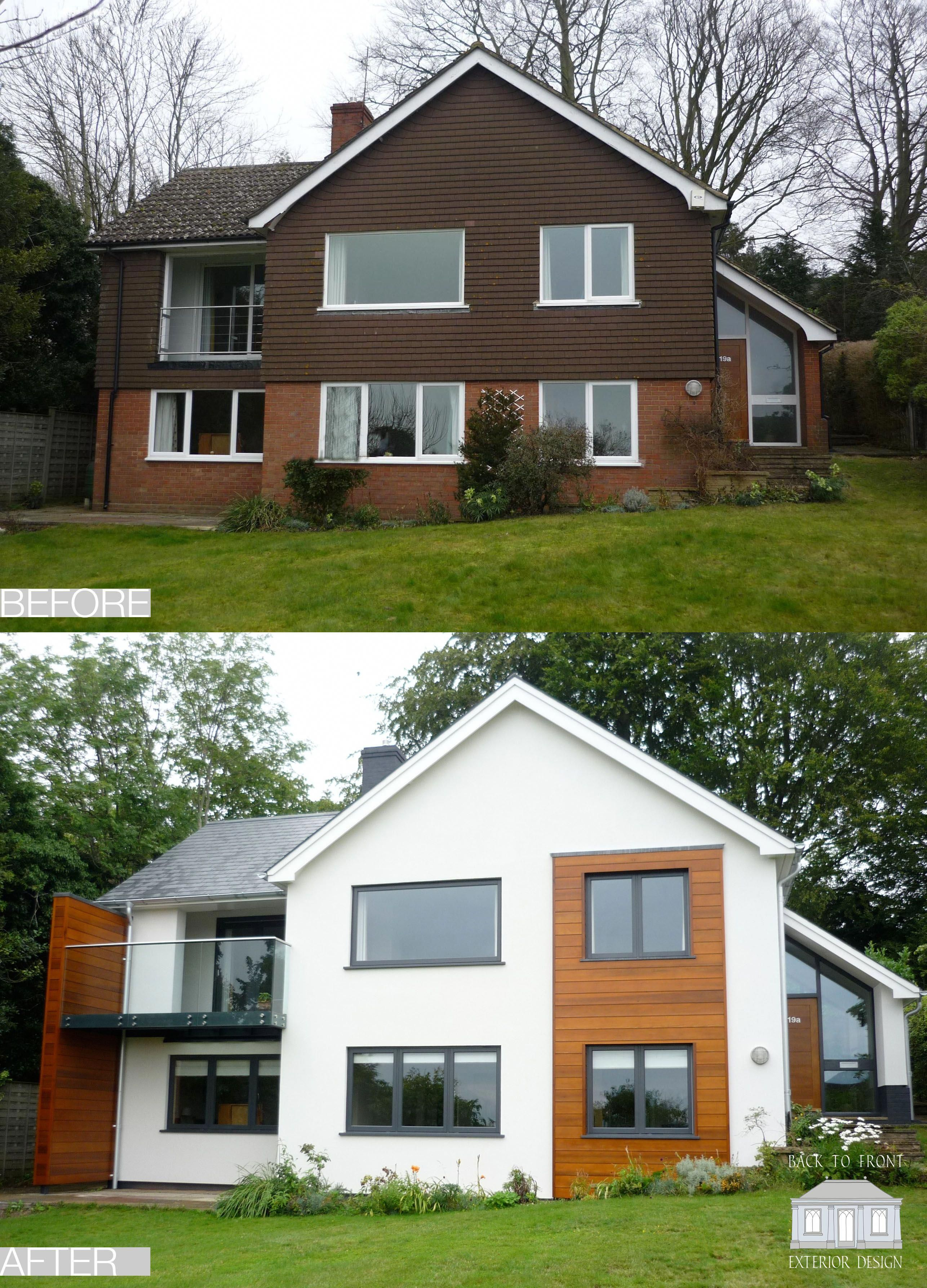 1960 S Before And After Remodelling Project In Guildford Surrey By Back To Front Exterior