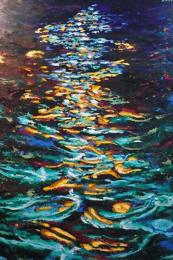 light on water reflection - Google Search | Painting ...