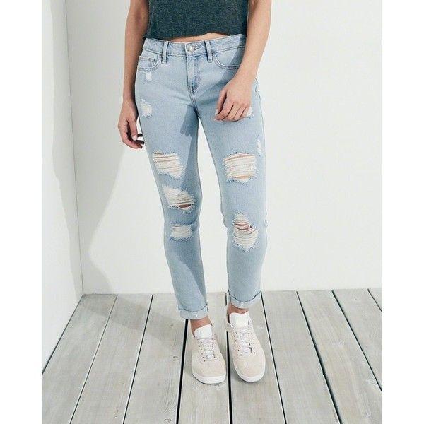 371e854892 Hollister Vintage Stretch Low-Rise Crop Super Skinny Jeans ($60 ...