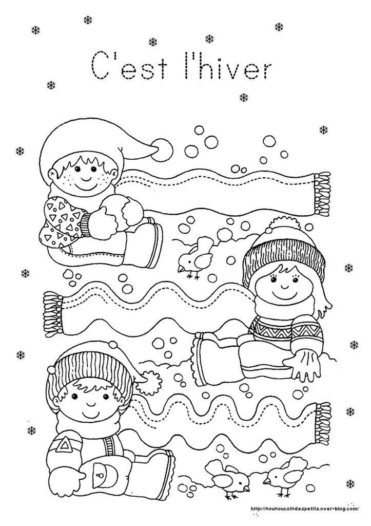 Hiver fiches activit s th me hiver graphisme pinterest hiver activit et - Activite manuelle maternelle hiver ...