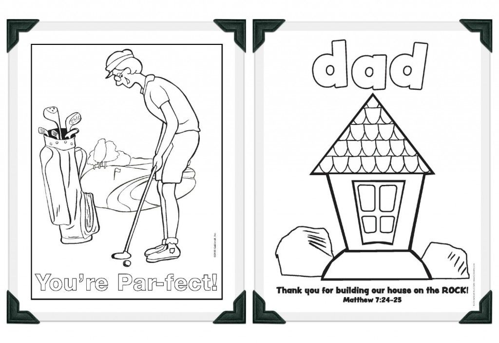 Free #FathersDay Printables from Guildcraft Arts \ Crafts! #1 Dad - new free coloring pages for father's day