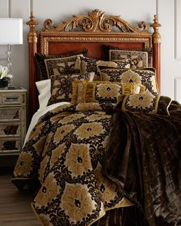 "+3859 Dian Austin Couture Home ""Antwerp"" Bed Linens"