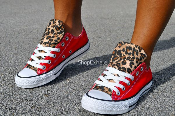8330b56b28b3 Red   Leopard chucks! I am soo getting these my favorite color combined  with my favorite print.