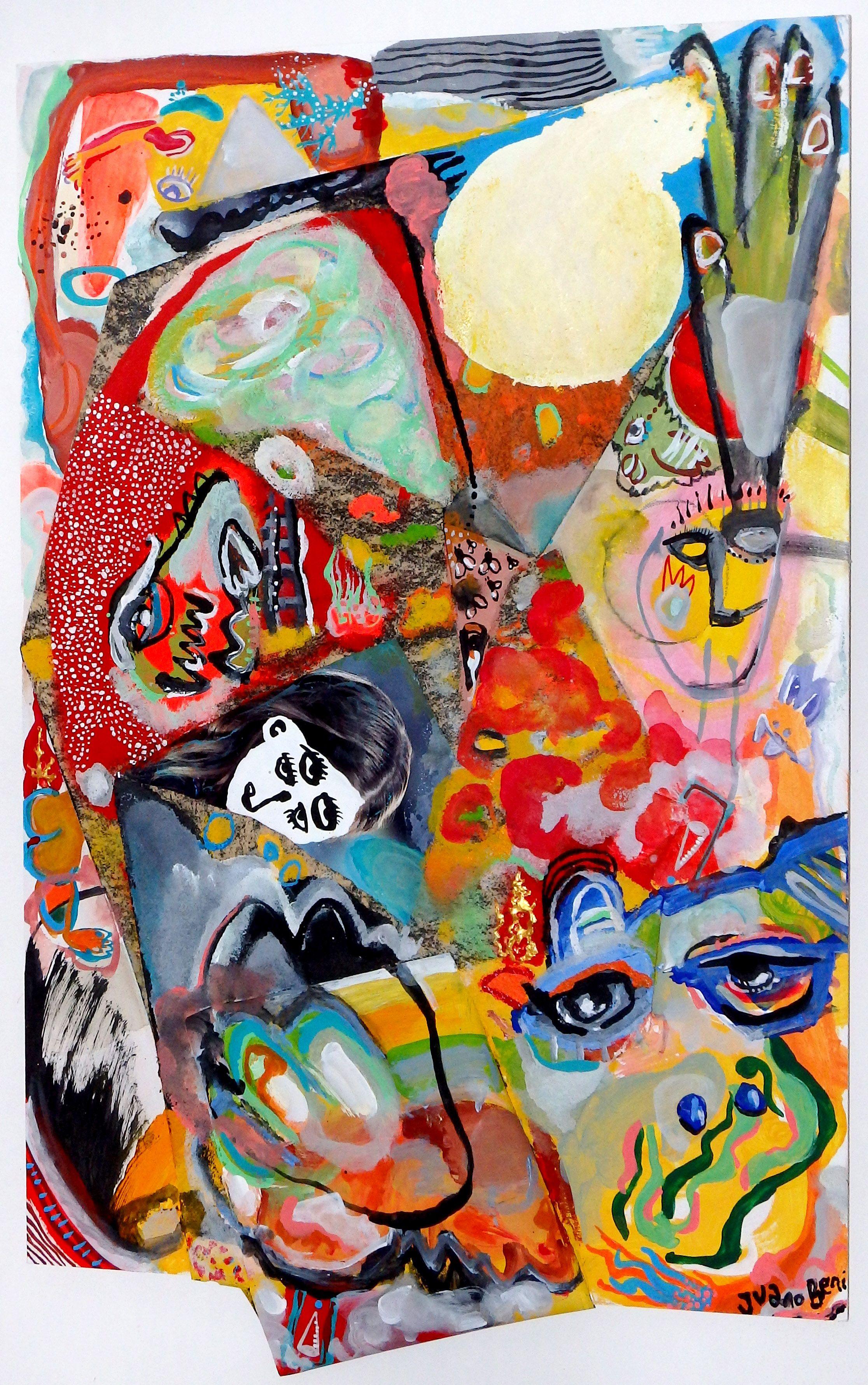"""""""El planeta de los artistas""""  50 x 74 cm Mixta Madera #arte #art #artwork #pintura"""