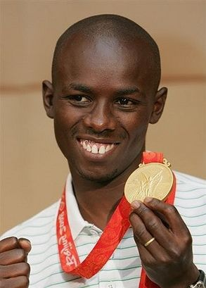 Samuel Wanjiru pictures | Samuel Wanjiru (The Psychology in-depth) | Black Roses. Gold 2008 Marathon Bejing