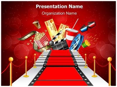 red carpet entertainment powerpoint template is one of the best