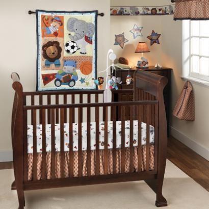 Sports Played By Safari Animals Baby Crib Bedding Boys Will