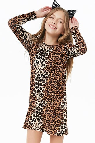 045677b1844b Girls Leopard Print Skater Dress (Kids) | Products | Dresses ...