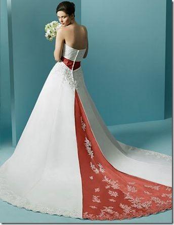 Orange White Wedding Dress Wedding Stuff Pinterest