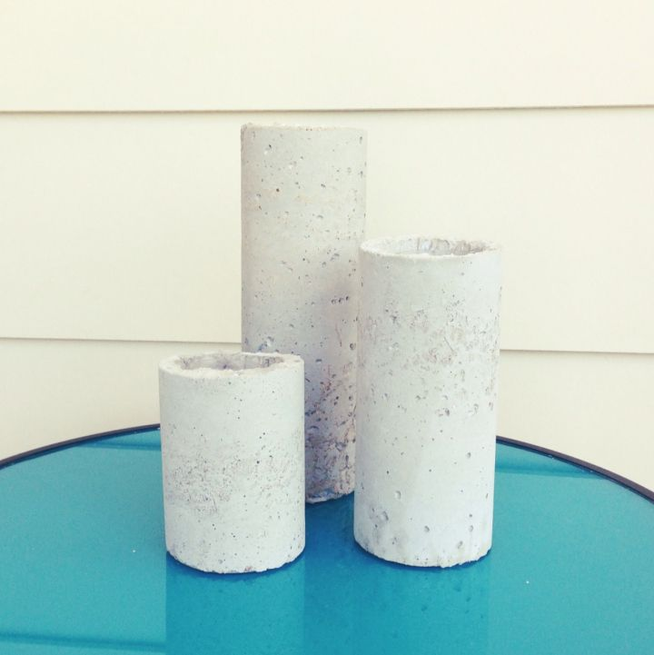 Concrete Candle Holders // Industrial DIY