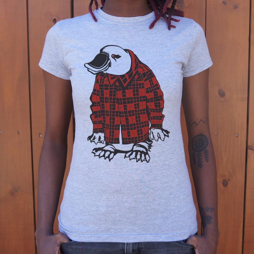 Plaidy-Pus Funny Animal Shirt Men/'s T-Shirt Platypus Gift Plaid Shirt Platypus