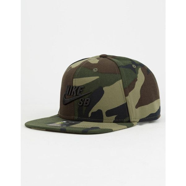 5a0efb8144f ... norway nike sb camo snapback hat 25 liked on polyvore featuring mens  fashion 23908 2cf21