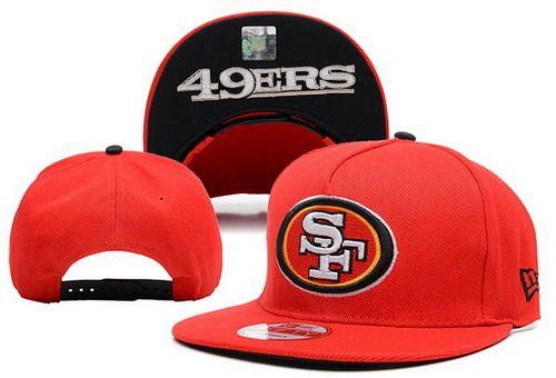 Top NFL San Francisco 49ers Red Black Snapback Hat  eccc03d48