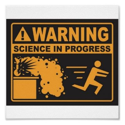 Warning science in progress poster for boys 39 room for Cool posters for your room