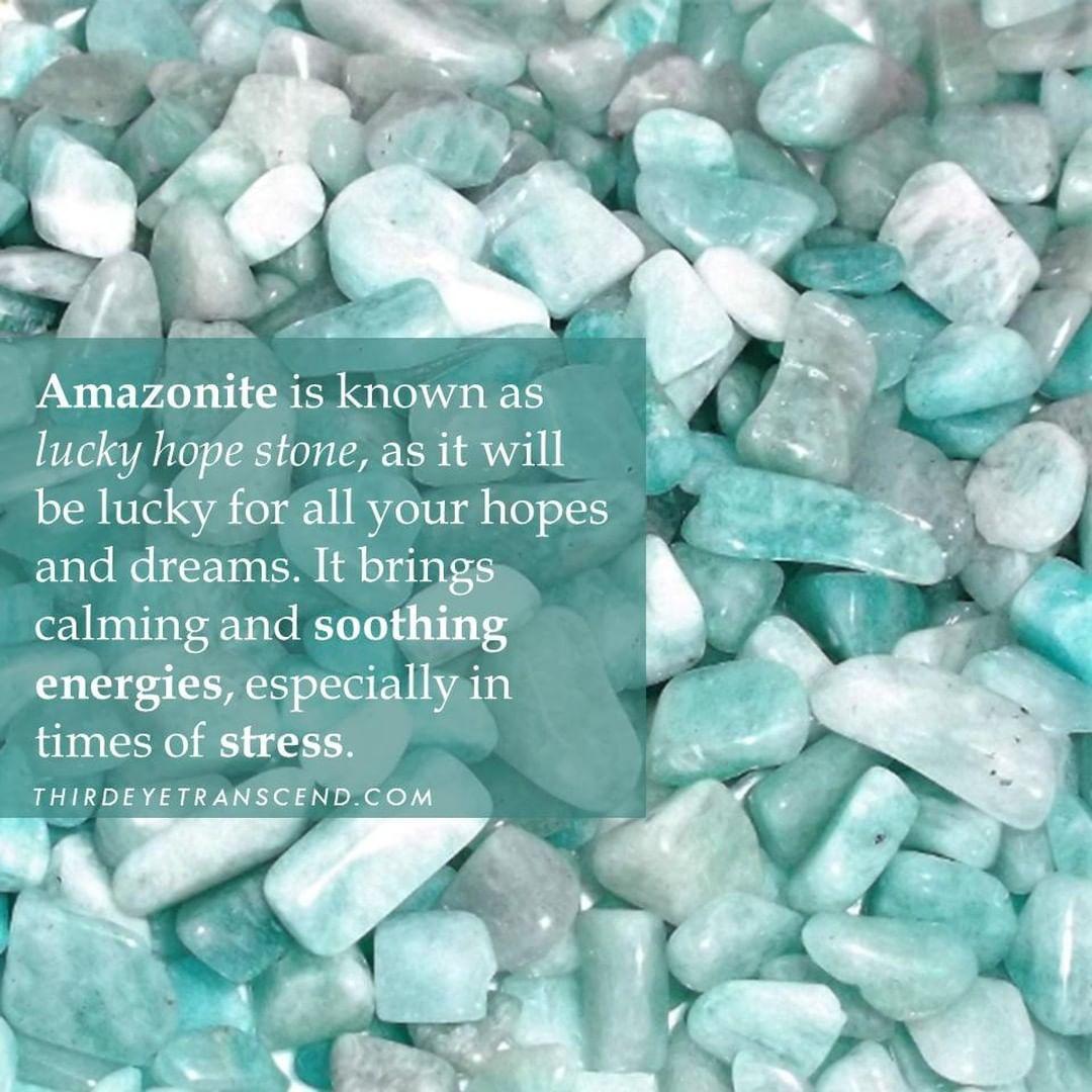 Thirdeyetranscend On Instagram Amazonite Is Lucky Hope Stone