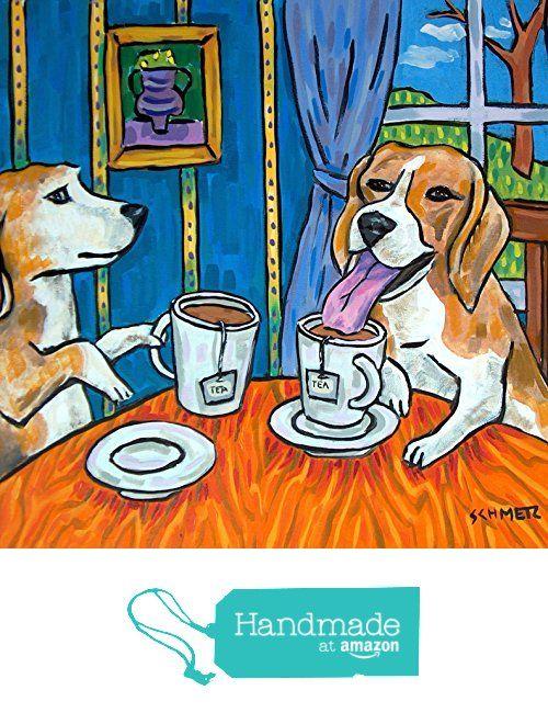Beagle Tea Time Dog Art Tile Coaster Gift From Schmetzpetz Http