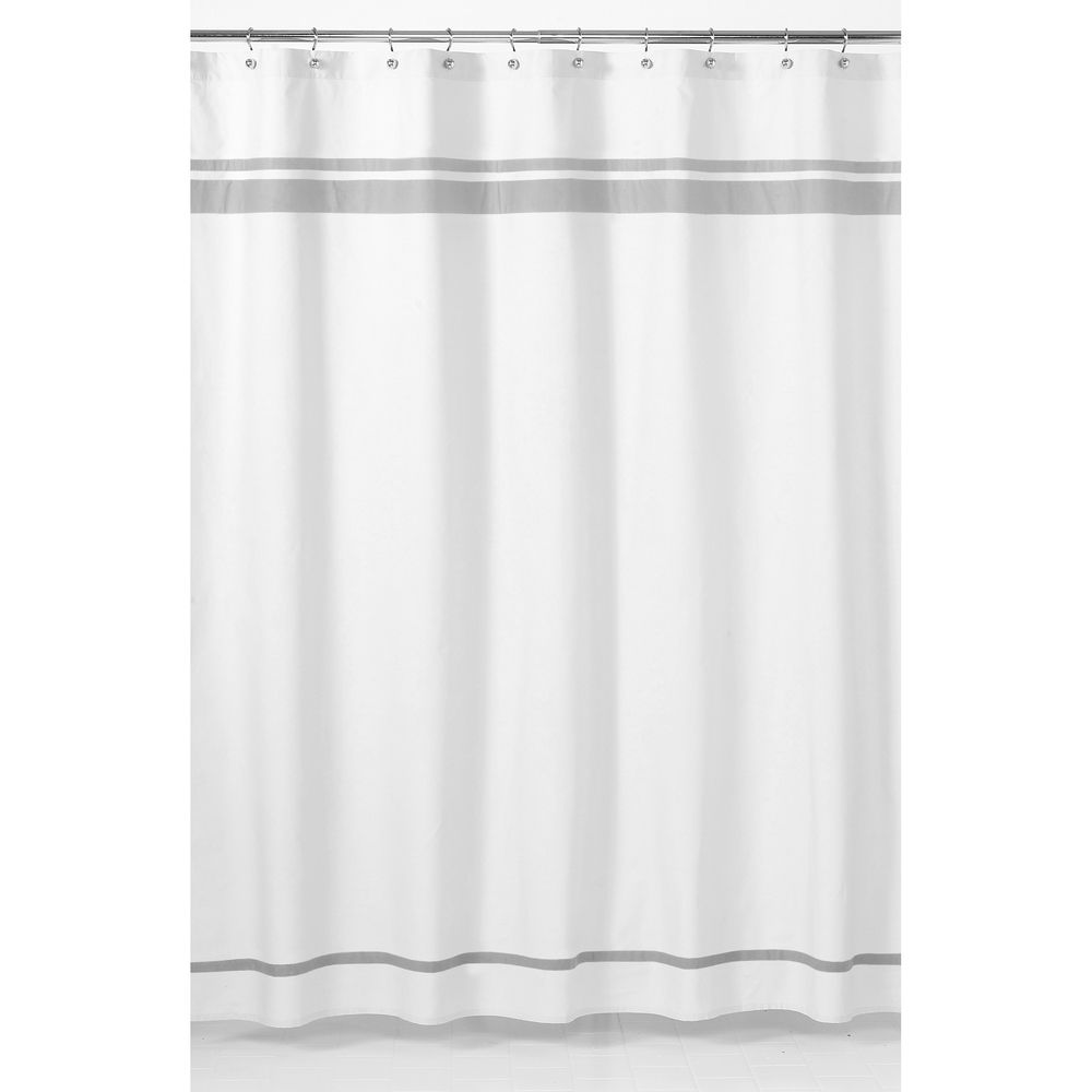 sweet jojo designs white and grey hotel shower curtainsweet