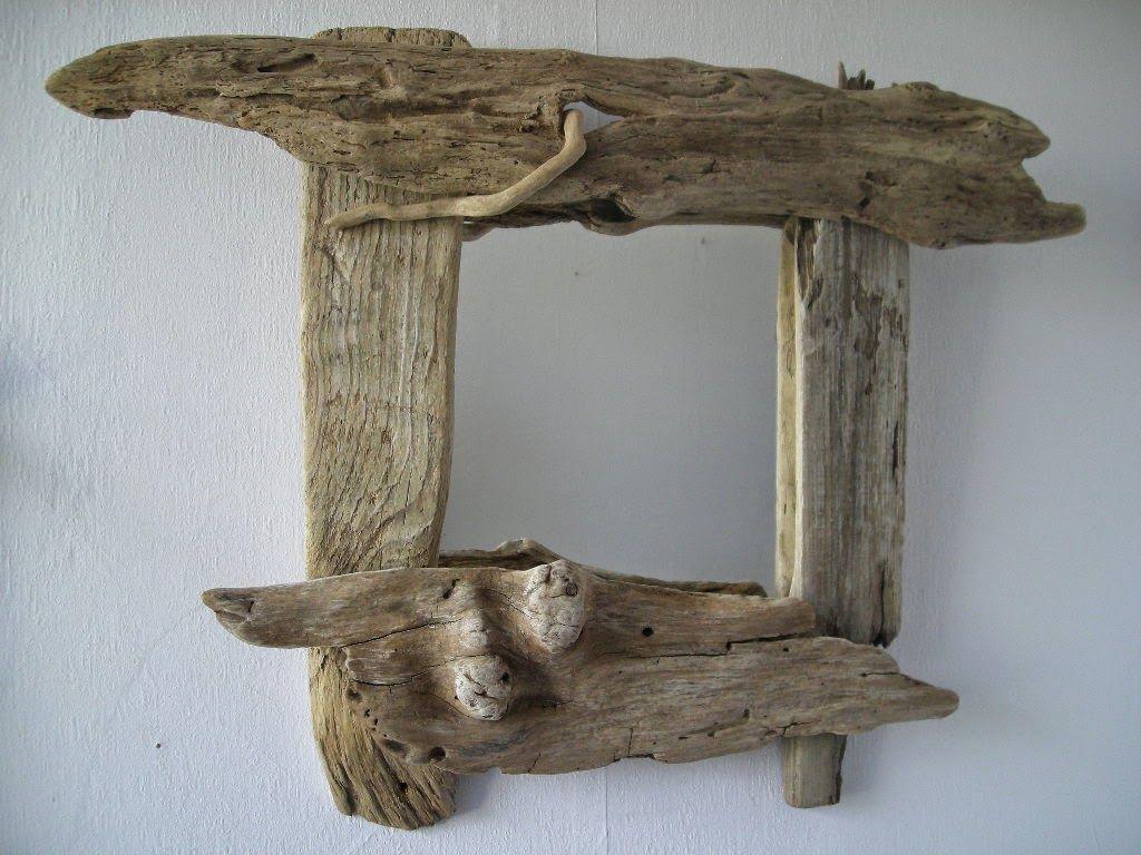 Espejos con madera a la deriva decoracion con materiales for Espejos grandes con marco de madera