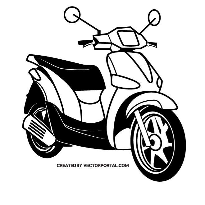 scooter motorcycle vector image scooter motorcycle scooter vector images pinterest