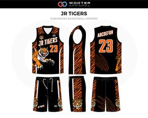 Jr Tigers Basketball Uniforms In 2020 Basketball Uniforms Design Basketball Uniforms Jersey Design