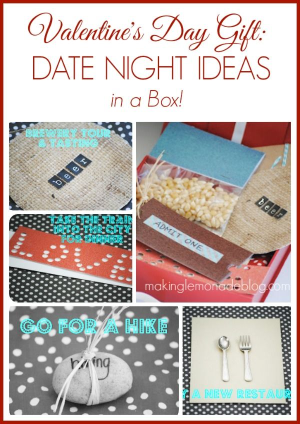 Valentines Day Gift Idea Date Night Ideas In A Box Creative