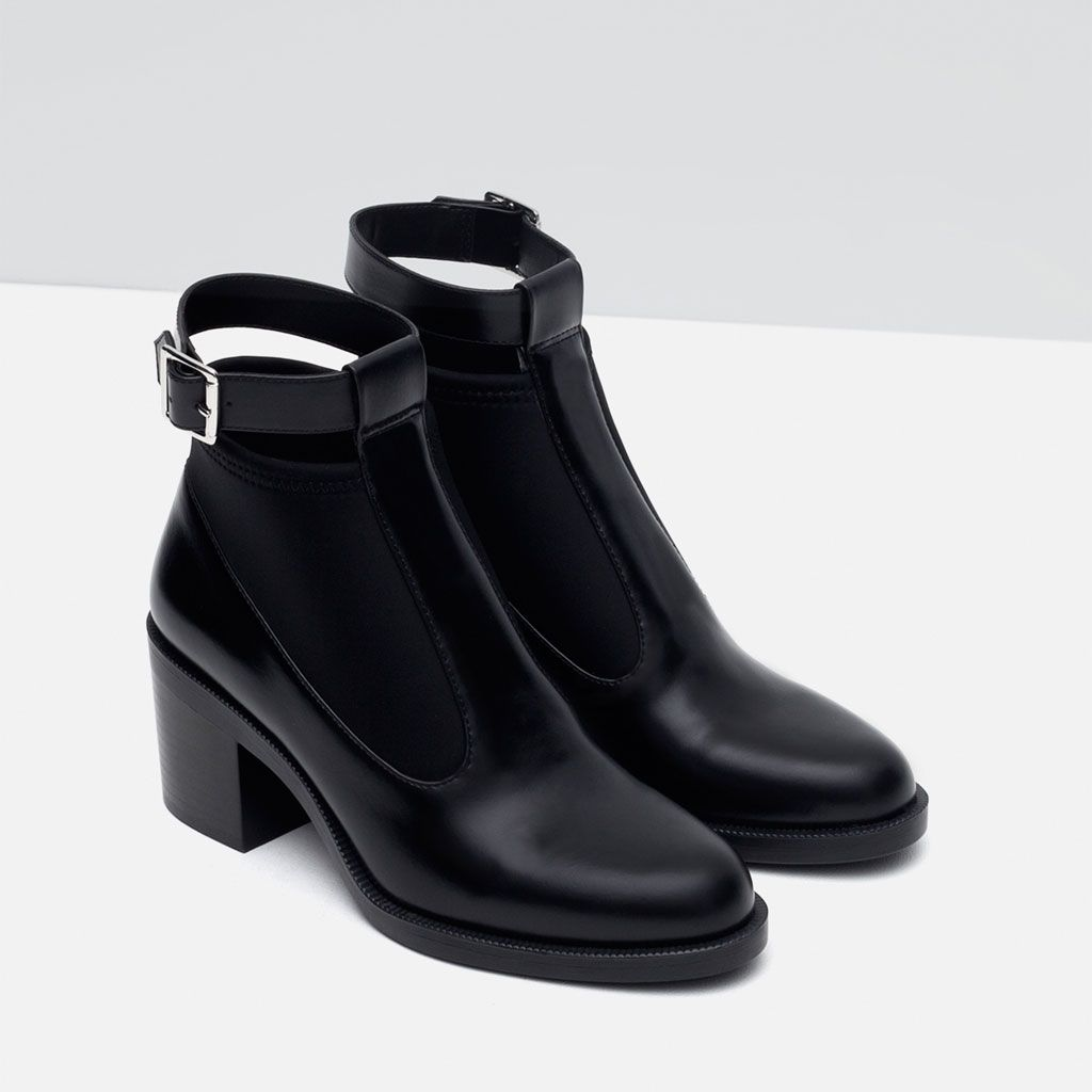 bottines À talon et bride-bottines-chaussures-femme | zara france