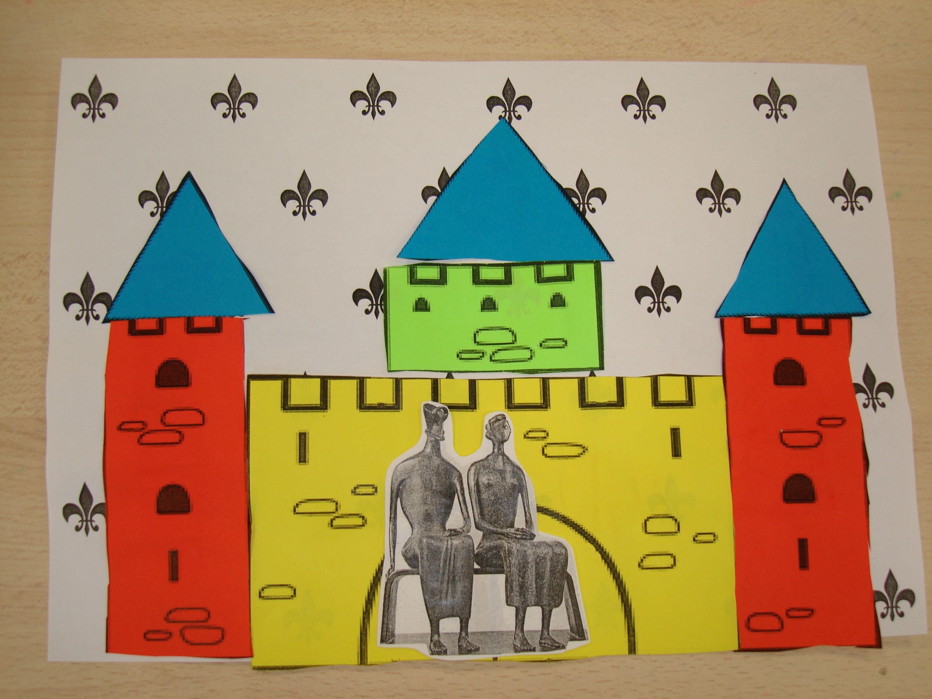 Roi et reine ms d coupage collage arts plastiques - Decoupage collage a imprimer ...