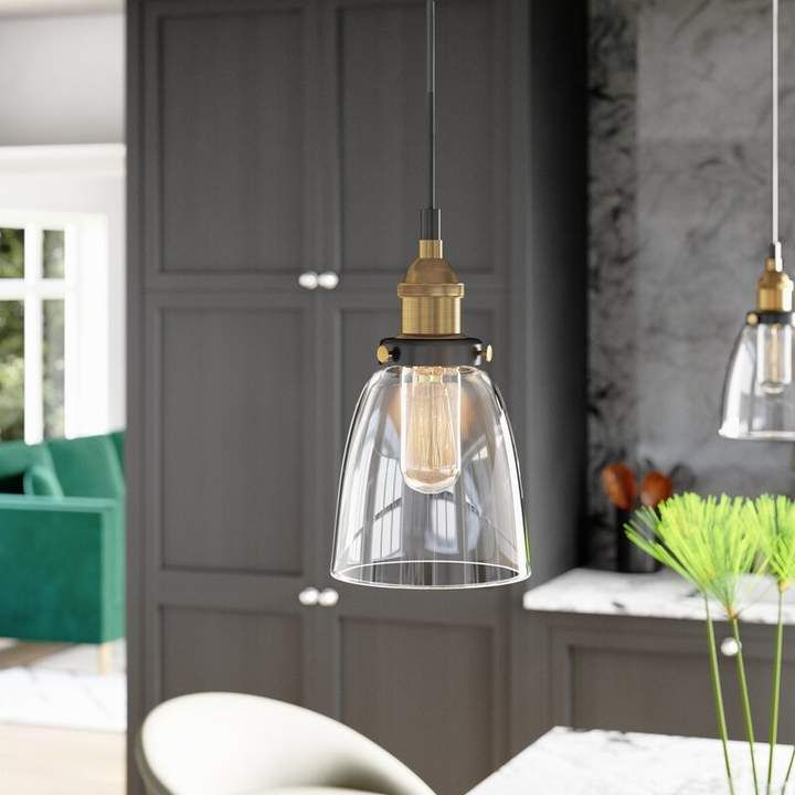 Mercury Row Bundaberg 1 Light Cone Pendant Bell Pendant Pendant Light Compact Fluorescent Bulbs