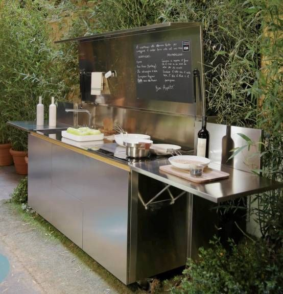 70 Awesomely Clever Ideas For Outdoor Kitchen Designs: CUCINA OUTDOOR FINALMENTE Di SteellArt Nel 2019