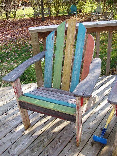 painted adirondack | Garden Furniture | Outdoor chairs ...