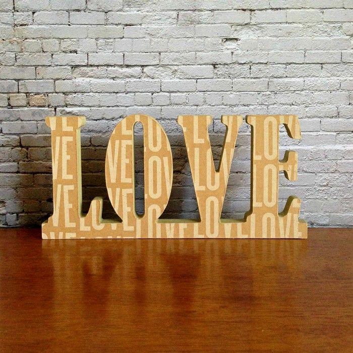 Love  Wooden Freestanding Word Sign Plaque Neutral Beige Home Decor Typography - by StudioAstratta on madeit