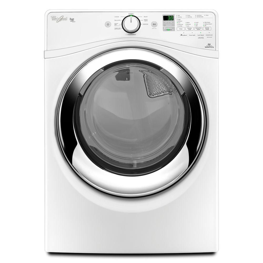 Whirlpool Duet 7.3 cu. ft. Electric Dryer with Steam in White, ENERGY STAR-WED87HEDW - The Home Depot