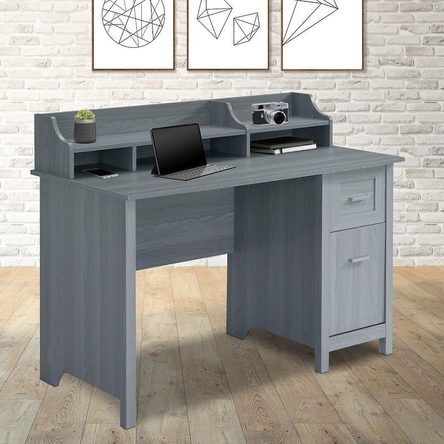 Techni Mobili Classic Office Desk With Storage In 2020 Classic Office Desks Office Desk Desk Storage