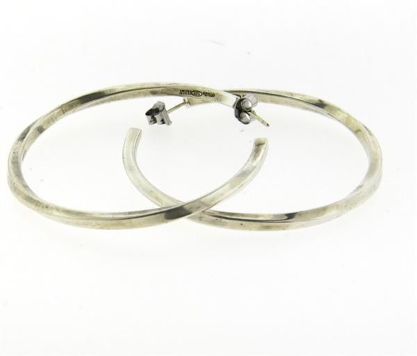 Tiffany & Co Sterling Silver Large Hoop Earrings Featured in our upcoming auction on July 26!