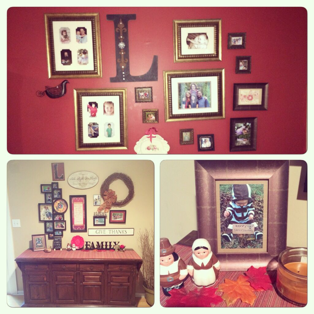 Thanksgiving collage walls