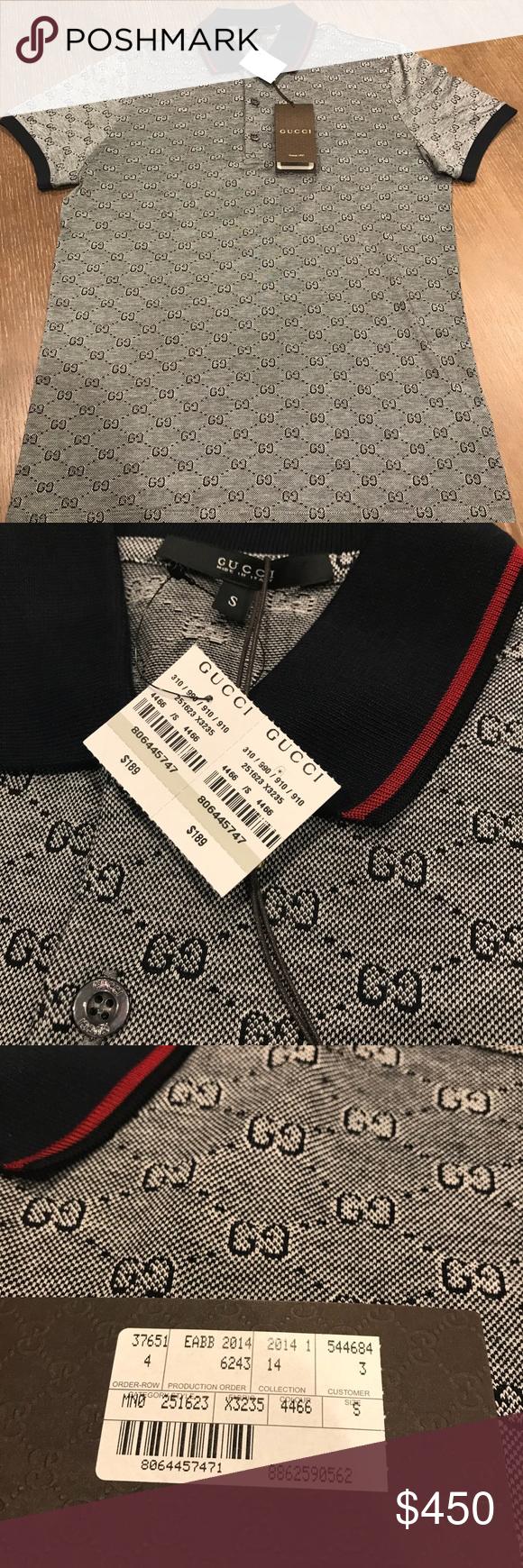 34d86a54 Gucci GG pattern polo Gucci GG polo Size small = mens 36-38 chest 100