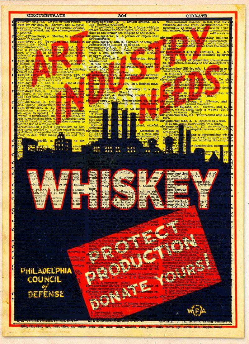Art Industry needs Whiskey, WPA advertising poster, art deco wall ...