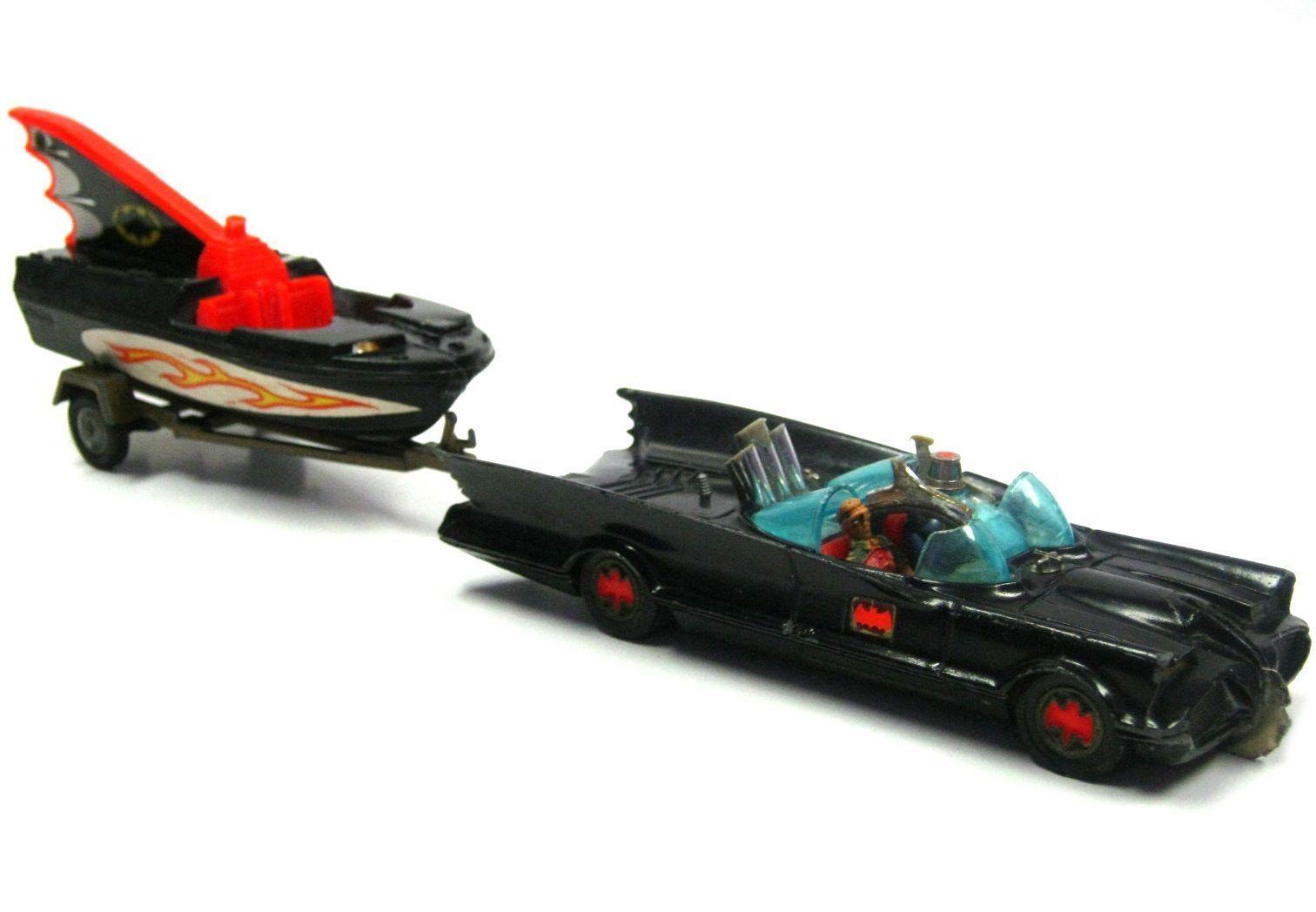 Vintage Corgi 267 Batmobile w Trailer Batboat Batman Robin ...