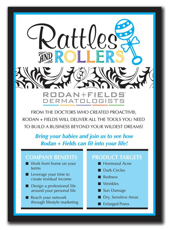 Rodan and Fields Rattles and Rollers Event by lauraleidesign, $25.00