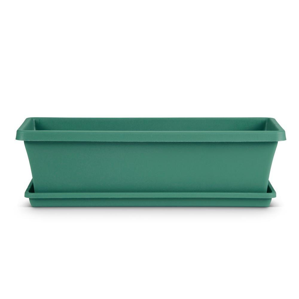 Dayton 24 In X 6 7 In Jungle Green Plastic Window Box Daywb2450