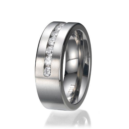 8mm Herren Ring Titan Titanium Trauringe Ehering Verlobungsring