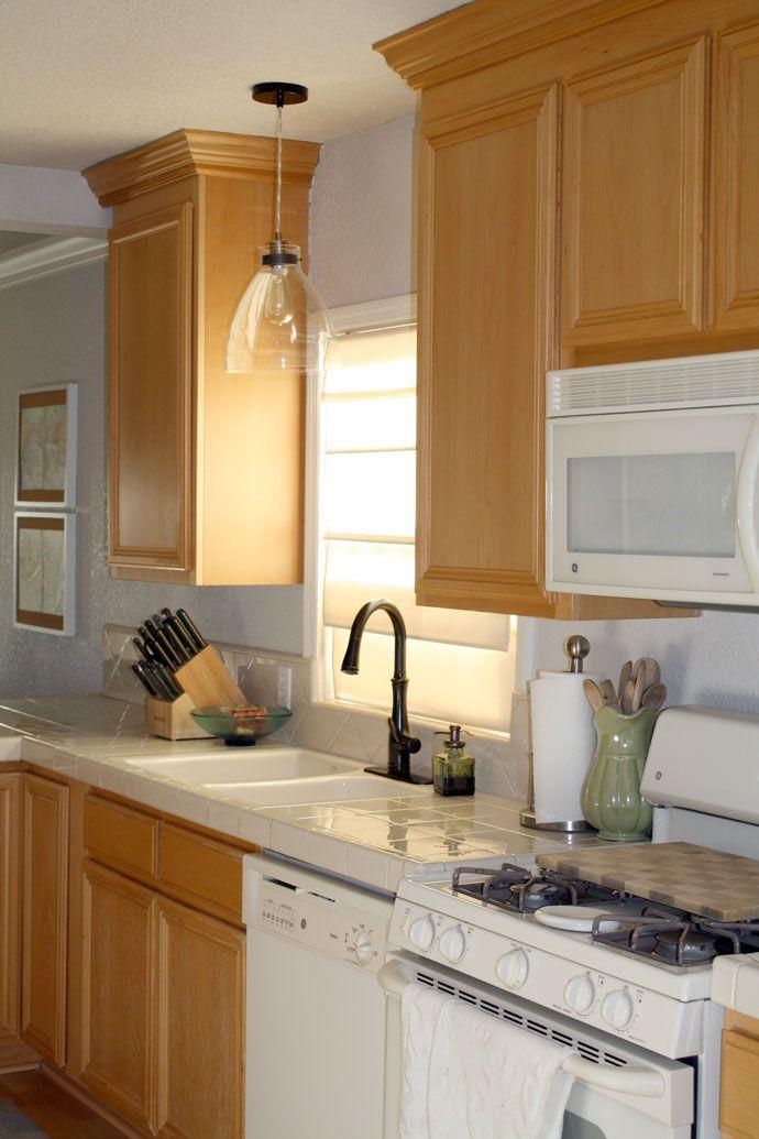 Over sink kitchen light - after | Lighting | Pinterest | Spüle küche ...