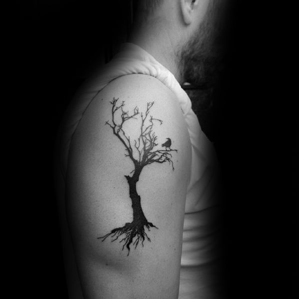 50 Simple Tree Tattoo Designs For Men Forest Ink Ideas Tree Tattoo Designs Simple Tree Tattoo Tree Tattoo
