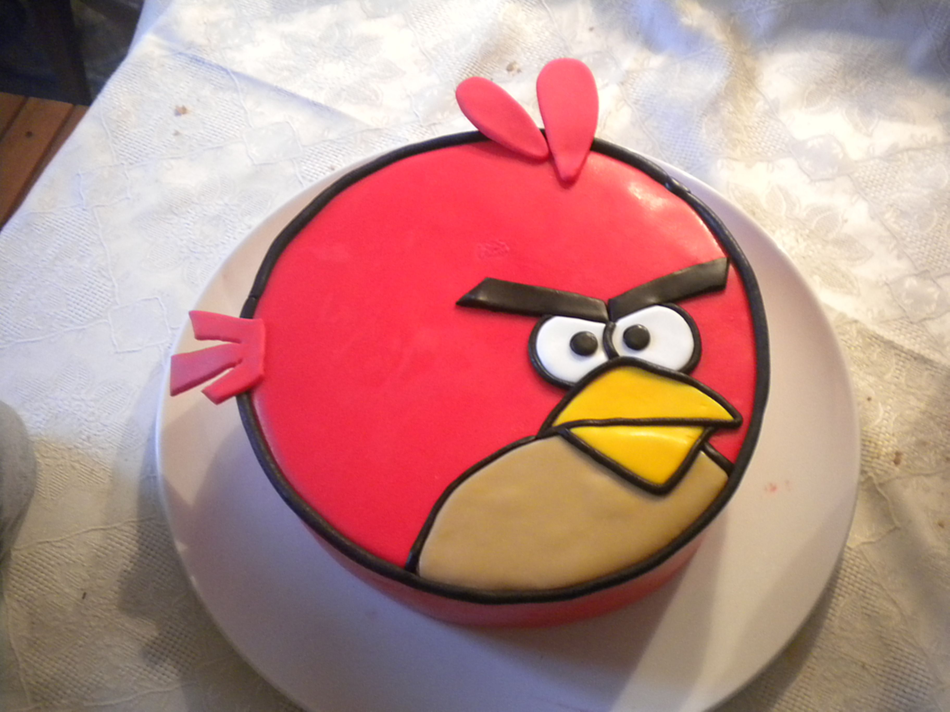 Red Angry Bird Cake fo Joel