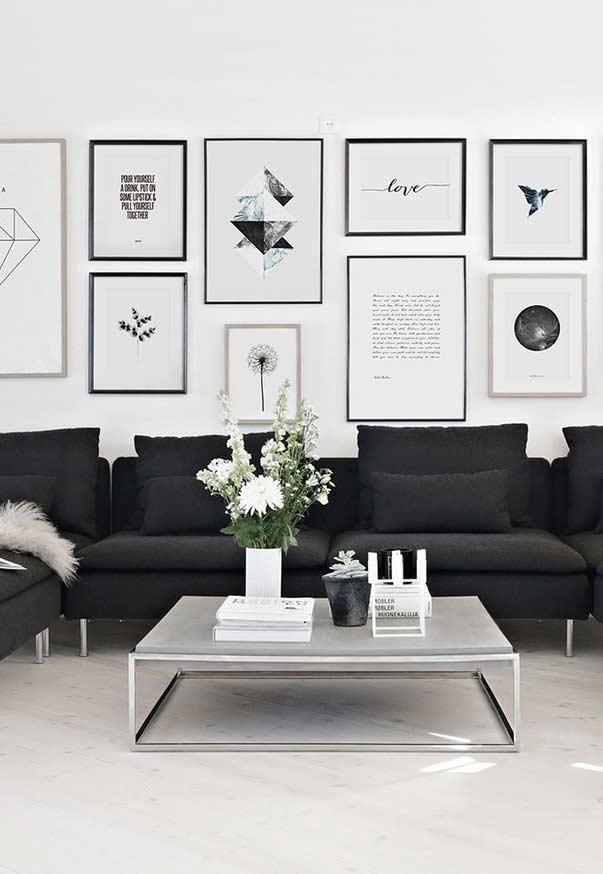 Photo of Schwarzes Sofa: 50 Modelle mit Fotos und wie dekorieren – Neu dekoration stile